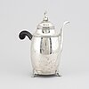 A swedish 19th-century silver coffe pot, mark of anders lundqvist stockholm 1816.