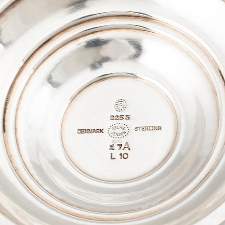 Johan rohde, a model 17a sterling silver bowl, georg jensen, denmark.