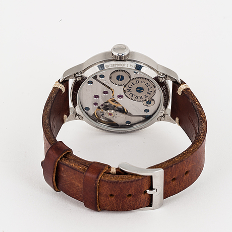 Meistersinger, no 2, wristwatch, 43 mm.