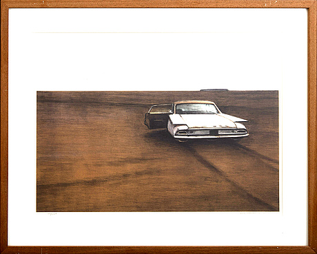 Ulf wahlberg,a lithograph in color, numbered 72/230 and signed,