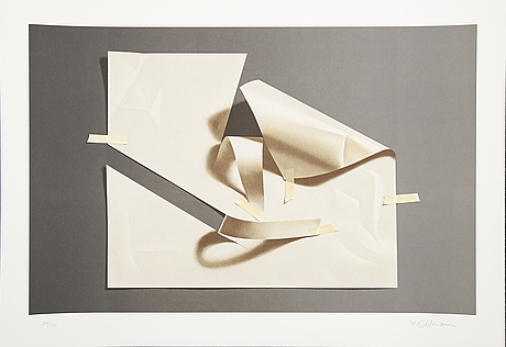 YrjÖ edelmann, lithograph in colours, stamped signature 127/150.