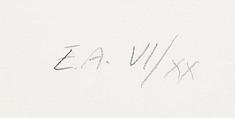 YrjÖ edelmann, öithograph in colours, 1991, stamped signature ea vi/xx.