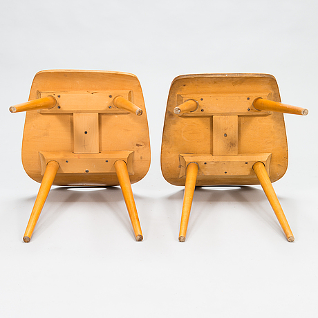 Paavo rekola, two mid-20th century stools.