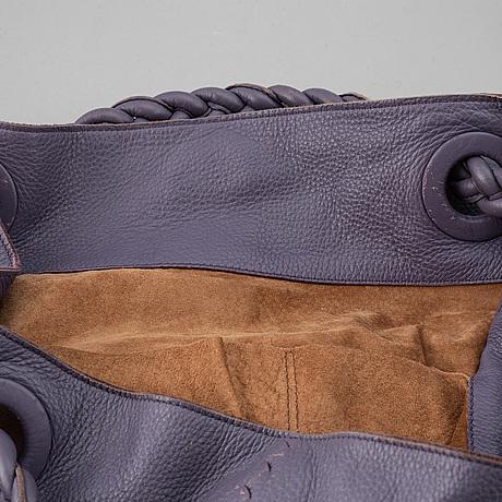 Bottega veneta, a purple leather bag.