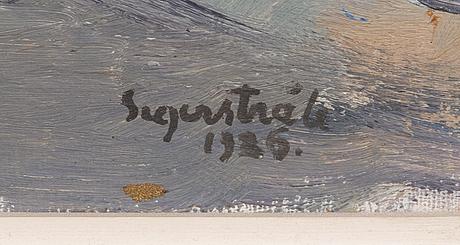 Lennart segerstrÅle, olja på pannå, signerad och daterad-26.