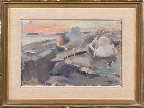 Lennart segerstrÅle, oil on board, signed and dated-26.