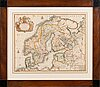 A hand coloured, copper engraved 17/18th century map. pierre mariette.
