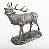 A sculpture, bronze, signed,  a.k korniluk, bracia korniluk siedlce.