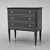 Late gustavian style chest of drawers, second half of the 20th century.
