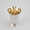 A swedish silver beaker, mark of johan stras, stockhom 1795.