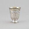 An austrian 18th century parcel-gilt silver beaker, unidentified makers mark, vienna 1763.