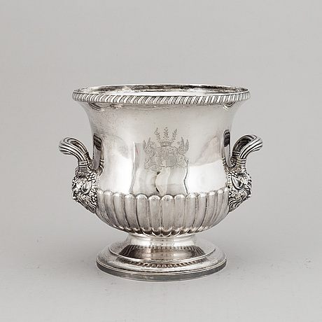 A russian 19th century silver wine-cooler, mark of nicholls & plincke mag.ang.