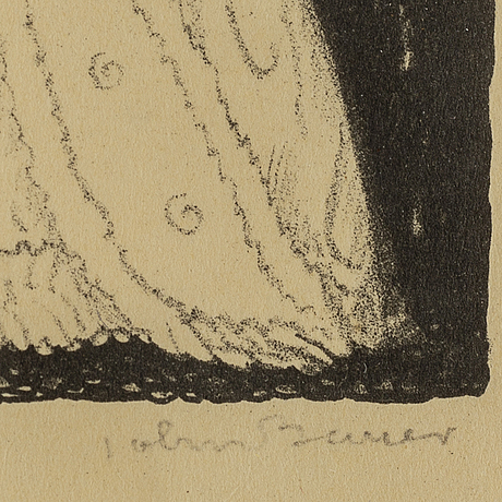 John bauer, lithograph, signed john bauer and numbered 5. in pencil.