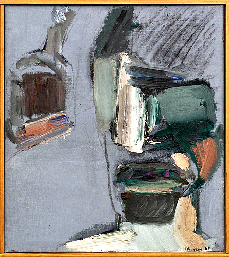Hans viksten, oil on canvas signed and dated 64.