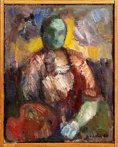 Hans viksten, oil on canvas signed and dated 60.