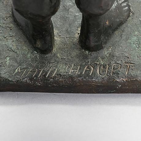 Matti haupt, brons, signerad.