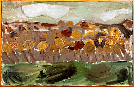 Hans viksten, oil on canvas signed and dated 63.