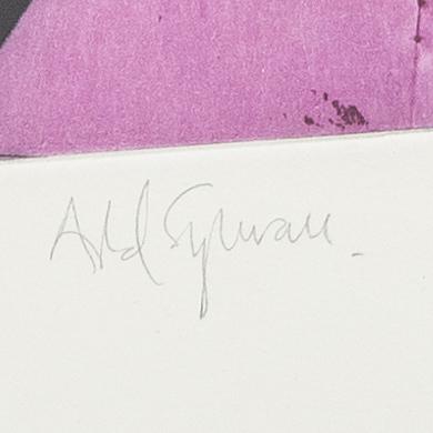 Astrid sylwan, färglitografi, numrerad 31/45 och signerad.