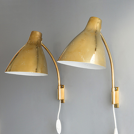 Lisa johansson-pape, a pair of mid-20th century '3055' wall lights for stockmann orno. finland.