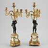 A pair of louis xv style candelabra 19th century.