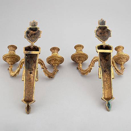 A pair of louis xvi style 19th century appliquer.