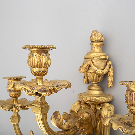 A pair of louis xv style 19th century appliques.
