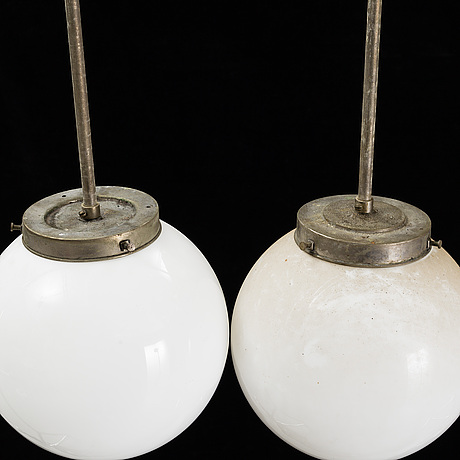 A pair of 1940s ceiling light.