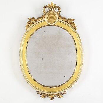 A Swedish Gustavian 18th century mirror/frame,