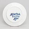 Anja juurikkala, a finnish 17 parts 'paju' porcelain service signed aij arabia, second half of 20th century.