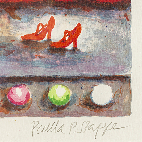 Pernilla stappe, färglitografi, signerad 178/237.
