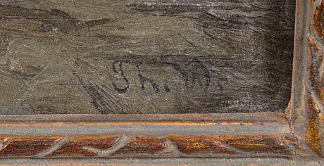 Thorsten waenerberg, öljy levylle, signeerattu. päivätty 1905 a tergo.