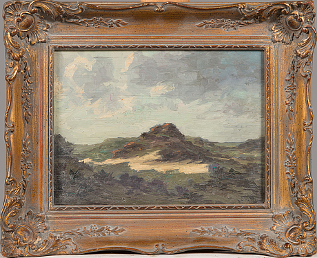 Thorsten waenerberg, oil on board, signed. dated 1905 a tergo.