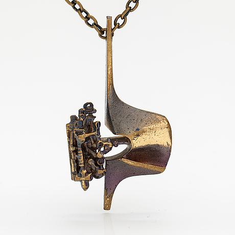 "Björn weckström, a fire broze necklace ""springfield. lapponia."