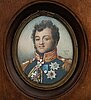 Jean-baptiste isabey, in the manner of. gouache 9.5 x 7.5 cm.