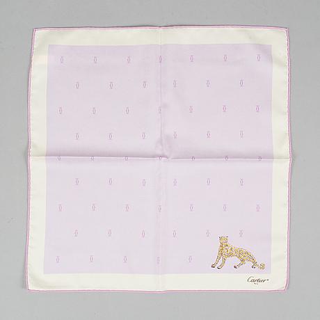 Cartier, 2 pieces, silk scarves.