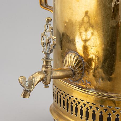 A circa 1900 brass samovar.
