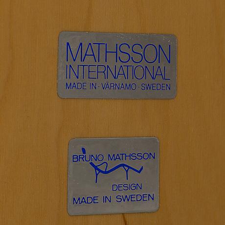 Bruno mathsson, coffee table, mathsson internationals, late 20th century.
