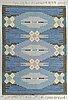 Ingegerd silow, matta, rölakan, ca 231-232 x 164-165 cm, signerad is.