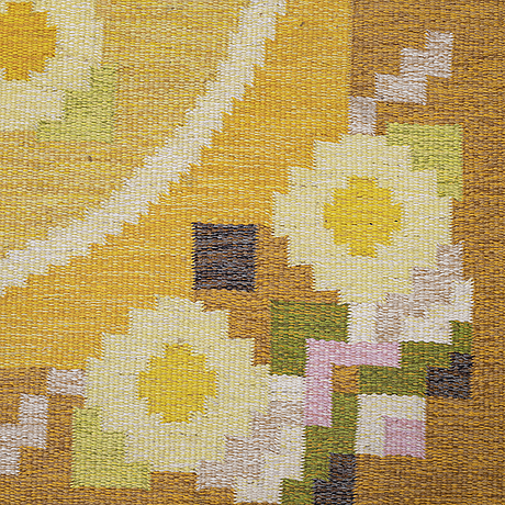 Ingegerd silow, matta, rölakan, ca 236 x 163,5-166  cm, signerad is.