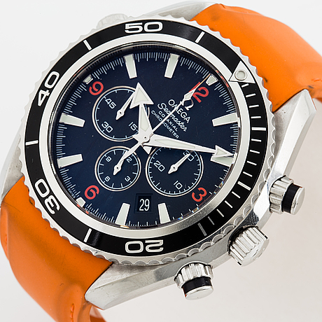 Omega, seamaster, planet ocean, chronometer, chronograph, wristwatch, 45,5 mm.