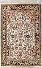 A rug silk qum, ca 160 x 105 cm.