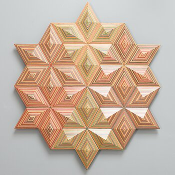 ALEKSI PUUSTINEN, A 'Kaleidoscope' relief, signed 2020 and numbered 1/2.