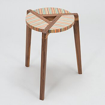 ALEKSI PUUSTINEN, Stool, signed and numbered.