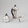 A swedish 20th century silver coffee-set, mark of cf carlman, stockholm 1961.
