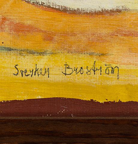 Sverker brostrÖm, oil on canvas, signed.