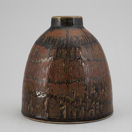 Carl-harry stÅlhane,a unique stoneware vase, rörstrand, sweden 1961.