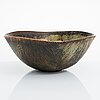 Axel salto, a stonware bowl signed salto, royal copenhagen.
