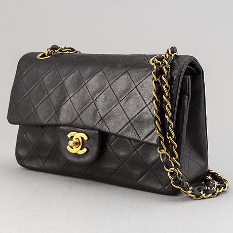A chanel 'double flap bag'.