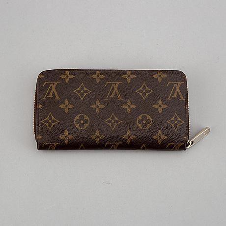 Louis vuitton, a monogram canvas 'zippy' wallet.