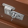 Bentley, three leather suitcases.